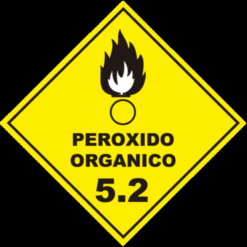 Rótulo de Risco ADESIVO Peroxido Orgânico