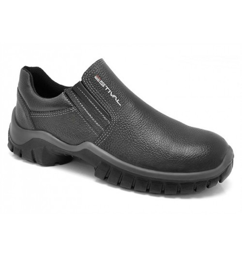Sapato Estival Work Preta (Elástico)