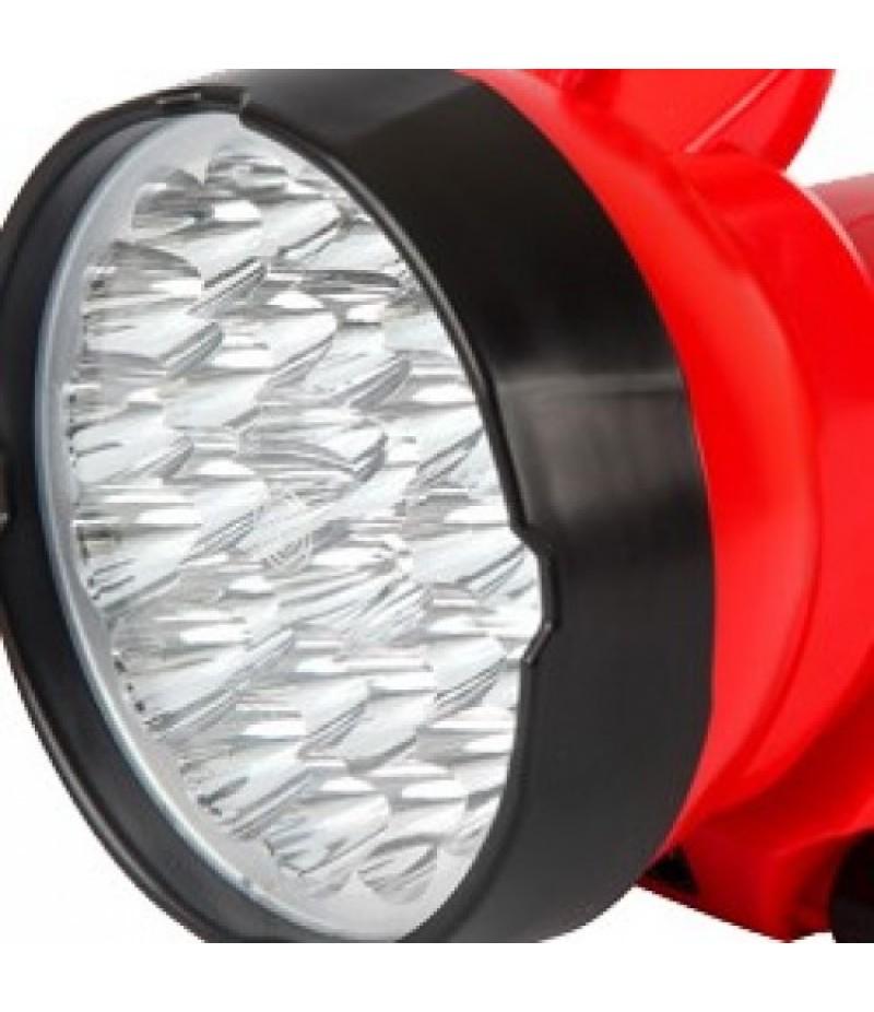 Lanterna Recarregavel com 30 LEDs Bivolt Vermelha 7323 Brasfort