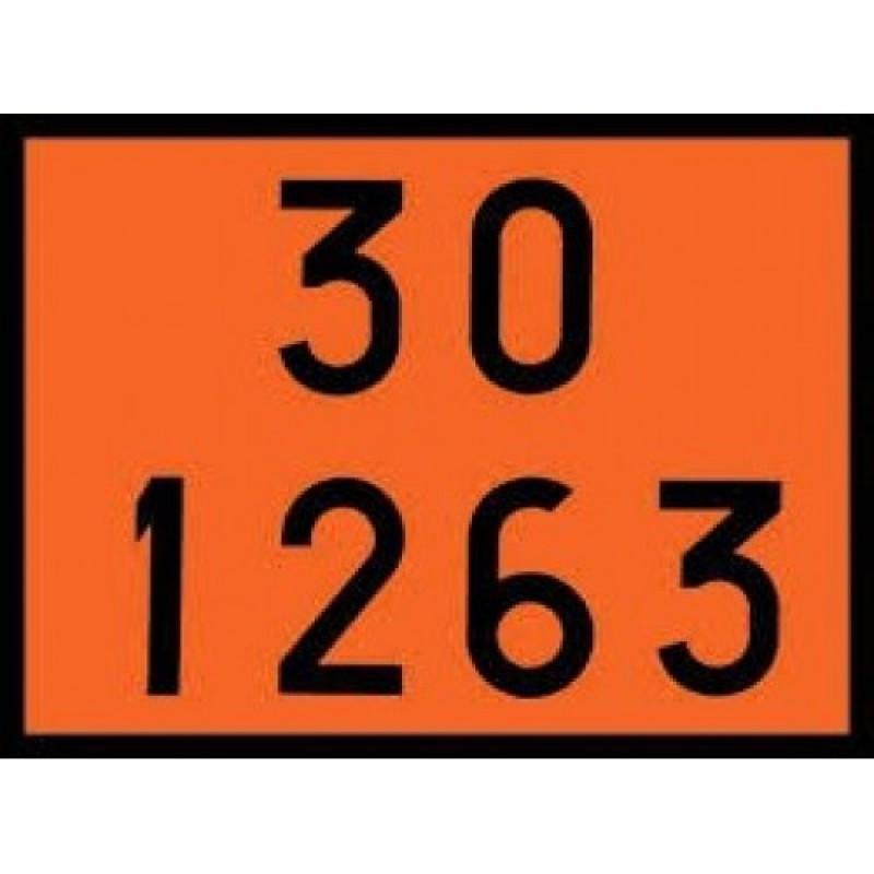 Painel de Segurança Laranja Adesivo 30 12 63
