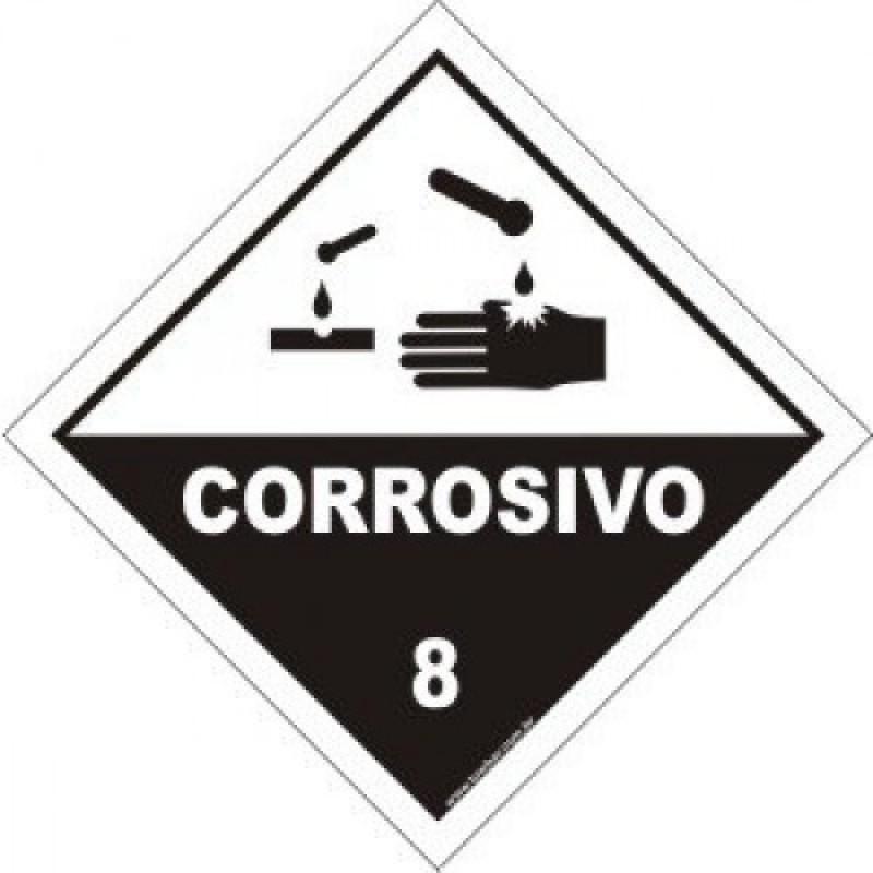 Rótulo de Risco  PVC CORROSIVO