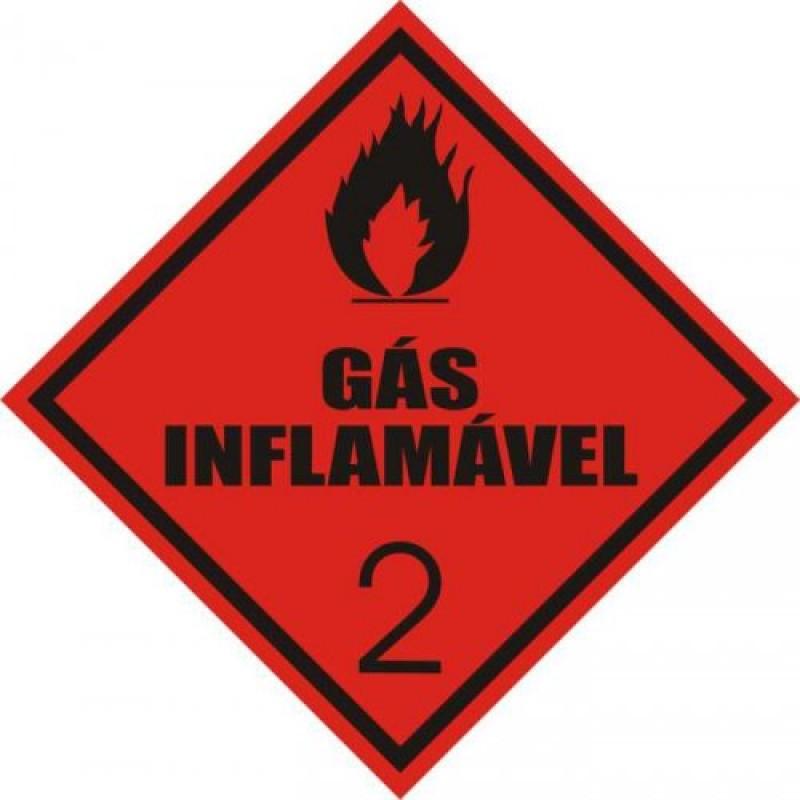 Rótulo de Risco  PVC Gás Inflamável