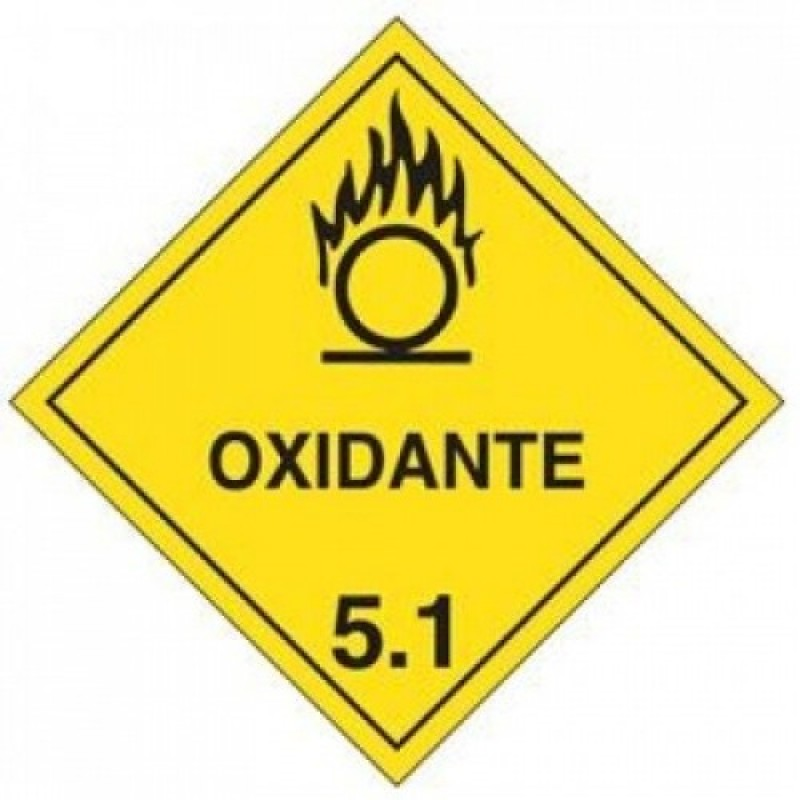 RÓTULO DE Risco ADESIVO Oxidante