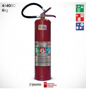 Extintor Pó Químico  ABC 6 quilos
