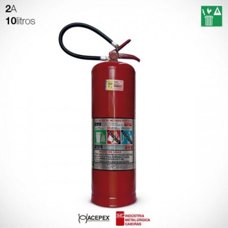 Extintor ÁGUA Pressurizada 10 Litros