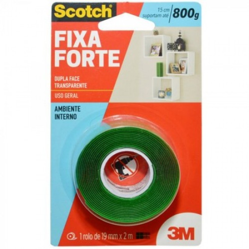Fita Dupla Face Fixa Forte 3M - 19mmx2m