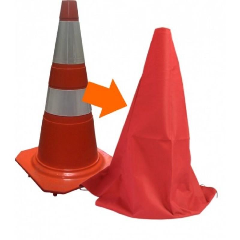 Capa de Proteção para  Cone de 75 cm,Disponível em 2 cores, Vermelho ou Preto