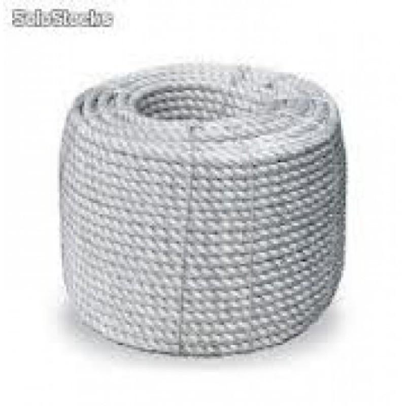 Rolo de Corda Nylon Branca 10mm