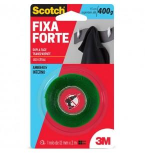 Fita Dupla Face 3M Fixa Forte 12mmx2m