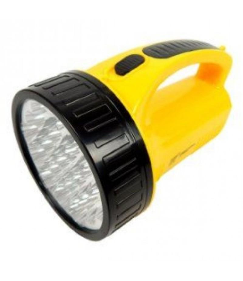 Lanterna Recarregável com 23 LEDs Bivolt Preto/Amarelo 7322 BRASFORT