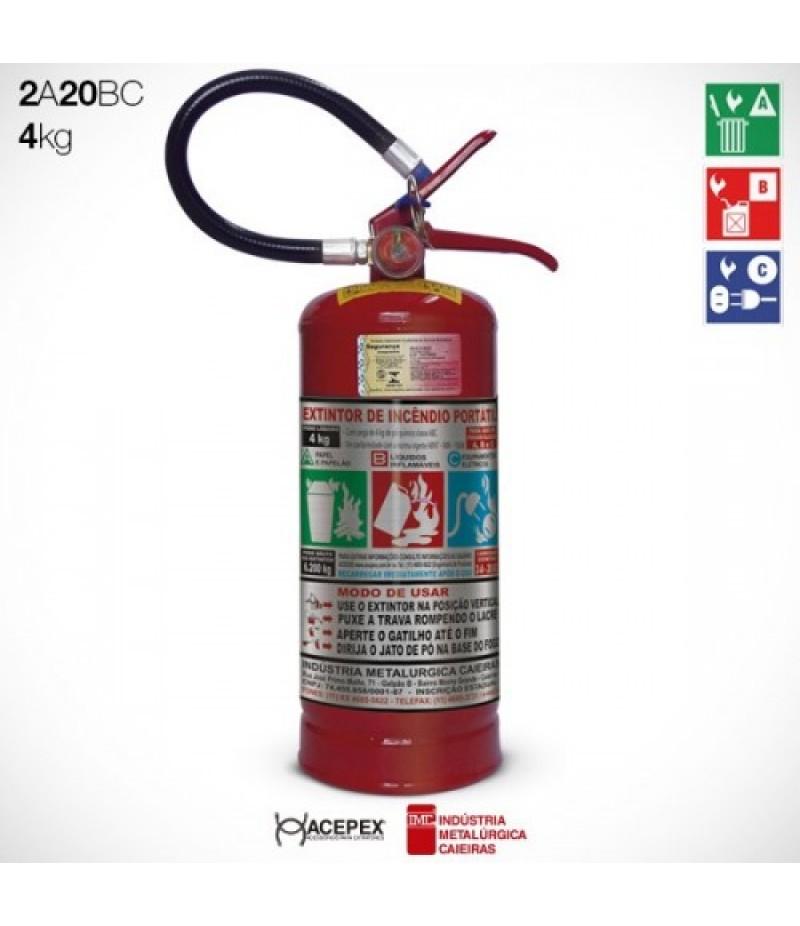 Extintor Pó  Químico BC  4 quilos